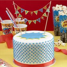 Superhero  Birthday Party Cake Bunting, Cake Decoration Kit!