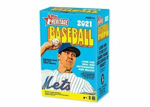 2021 Topps Heritage MLB Baseball Card Box BRAND NEW. WOW. LOADED WITH HITS