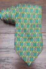 Burberrys Green Blue Star Print Men's Silk Neck Tie
