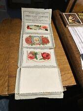 Victorian Die Cut Calling Card Pocket Sample Case Ohio Card Company Cadiz, Ohio