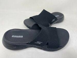 NEW! Skechers Women's ON THE GO 600 OCEANSIDE Slide Sandals Blk #140003 123X tz