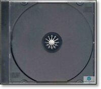 25 Single CD Jewel Case 10.4mm Spine with Black Tray New Empty Replacement Cover