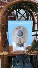 New Thomas Kinkade lighthouse Victorian light anniversary table clock chimes
