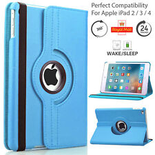 Case Cover For iPad 2 3rd 4th Generation Leather 360 Rotating Stand Flip Book