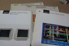 LOT of 4 manuals for the Apple II IIe  - composite Monitor Applesoft BASIC
