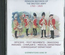 THE BRITISH ARMY LIST 1763-1825 CD ROM