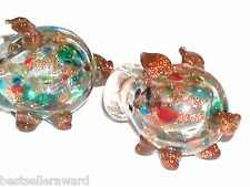 1pc Real Murano Glass ball Crystal Pig essential oil perfume piggy bottle cork