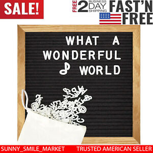 Felt Letter Board Black Signs Changeable Message Removable Letters Display Frame