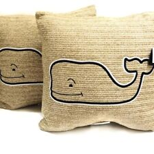 """SET OF 2 Vineyard Vines For Target 20""""x20"""" Whale Throw Pillow NWT"""
