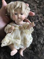 "Jeannie Di Mauro 7½"" Mary Antique Tynie Babe Horsman Mini Doll Very HTF"