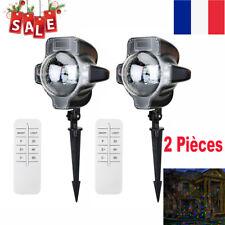 2x Projecteur LED Extérieur de Noël pour Façade Décorative Eclairage Télécommand