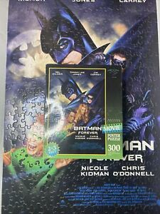 Batman Forever Movie Poster Puzzle 2x3' 300 Pieces Milton Bradley 1995