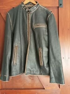 SZ 3 XL HARLEY DAVIDSON GENUINE LEATHER BROWN JACKET IN ACCEPTABLE CONDITION