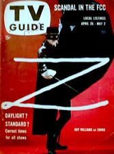 TV Guide 1958 Zorro Guy Williams Shirley Temple James Arness #265 VG/EX COA