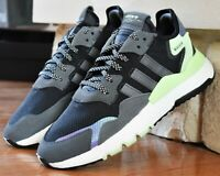 Adidas Nite Jogger - New Men's Boost Running Shoes Reflective FV3871 Black White