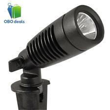 Low-Voltage 1-Watt Black Outdoor Integrated LED Adjustable Landscape Spot Light