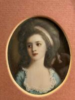 Miniatur Portrait einer Dame Gouache, unten rechts signiert, in goldenem Rahmen