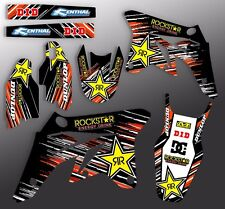 2001 2002 KTM EXC 125 200 250 300 380 400 520 GRAPHICS KIT MOTOCROSS DECALS DECO