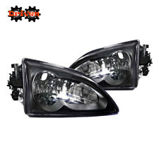 Ford Mustang 94-98 Black Housing Headlights Convertible GT Cobra SVT 4.6L V6 V8