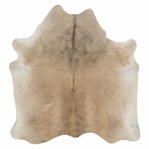 Genuine Light Grey Cowhide Rug - Soft & Silky - Hypoallergenic - Easy To Clean