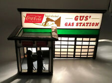 """Rare Forma Vitrum """"Gus Gas Station"""" Coca-Cola Stained Glass House By Bill Job"""