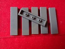 LEGO PART 2431 DARK GREY 1 x 4 TILE SMOOTH x 6 (SHADES VARY)
