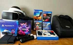 Casque Realite Virtuelle Sony Playstation VR + Ps Move + 4 jeux + Housse