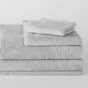 Living Textures Trenton Towel Collection by Sheridan SILVER GREY