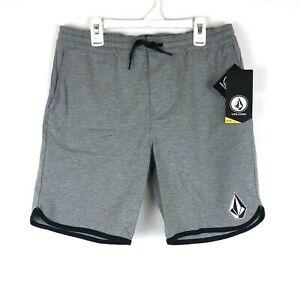 Volcom, Youth Boy's Size Large, Grey Chiller Knit Athletic Shorts