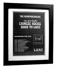 HEARTBREAKERS+Chinese Rocks+POSTER+AD+FRAMED+RARE ORIGINAL 1977+FAST GLOBAL SHIP