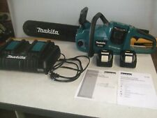 Makita Xcu03 Cordless 14 Inch Chainsaw-36V-Battery Operated-Used-Nice
