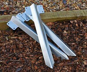 Garden Planter Edge Galvanised Steel Straight Railway Sleeper Bracket with Stake