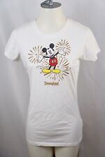 Disney Disneyland Resort MICKEY MOUSE Fireworks Womens White T Shirt Sz M EUC