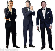 SEAN CONNERY BROSNAN DANIEL CRAIG JAMES BOND 007 LIFESIZE STANDUP STANDEE CUTOUT