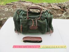 Orvis Battenkill Canvas & Leather Bottom Small Carry On Duffle Bag Made IN USA