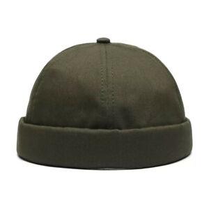 Men Women Solid Color Hat Cap Casual  Sailor Brimless Hip Hop