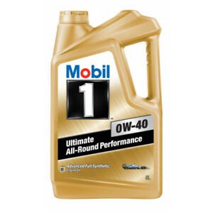 Mobil 1 0W-40 Full Synthetic Engine Oil 5L 140522 fits Porsche Cayman 2.7 (98...