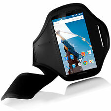 NEW BLACK SPORTS ARMBAND CASE COVER FOR MOTOROLA Nexus 6 GYM RUNNING FOOTING