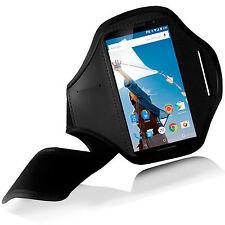 Neu BLACK Sport Armbinde case COVER für Motorola Nexus 6 gym laufen Joggen