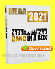 BAND IN A BOX 2021 MEGAPAK -DIGITAL -WIN- AUDIO MUSIC SOFTWARE - NEW FULL RETAIL