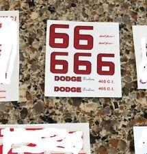 1/32 Eldon DODGE slot car Waterslide DECALS #6 David PEARSON Dodge Dealers