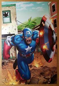 Avengers Captain America Marvel Comic Poster by Clayton Henry