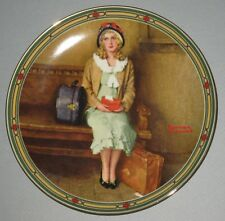 """""""A Young Girl's Dream"""" Plate, By Norman Rockwell 1985, All Original package"""