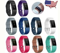 Silicone Watch Band Strap Wristband For Fitbit Charge 2 Fitness Replacement 10Pc