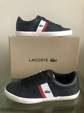 Lacoste Lerond 119 Navy White Red Mens Trainers UK Size 10