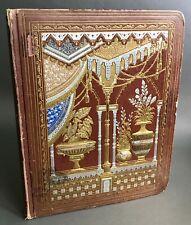 [Chromolitographs] Spectacular Large Victorian Decoupage Scrapbook Circa 1876