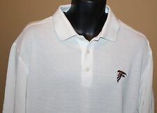 Cutter & Buck Polo Pullover White Long Sleeve Shirt Atlanta Falcons NFL DryTec