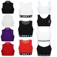 Choomomo Kids Young Girls Racer Back Sports Bra Padded Gym Yoga Workout Fitnesss Training Bra Underwear Crop Top