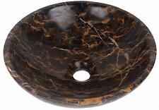 Marble Stone Round Bowl Bathroom Hand Wash Basin 400mm diameter Portoro  (0060)