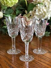 3 Waterford Lismore Sherry Glasses Cut Crystal